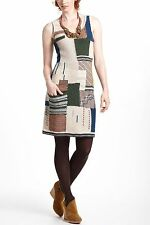 NWT ANTHROPOLOGIE by SLEEPING ON SNOW PATCHWORK VARIATIONS SWEATER DRESS M