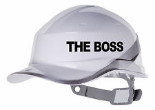 2X THE BOSS Hard Hat vinyl decal. Sticker transfer CUSTOM COLOUR & FONT