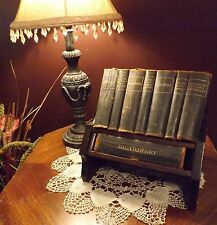 RARE Asprey & Co.antique 8 mini book Reference Set Stand for Abercrombie & Fitch