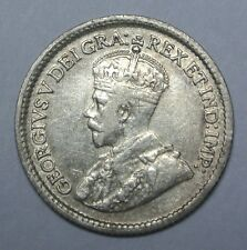 OLD CANADIAN COIN - 1915 - 5 CENTS-.925 SILVER-George V - WWI era-Nice KEY DATE