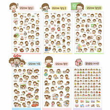 6 Sheets Cute DIY Scrapbooking Stickers Diary Book Sticker Decoration Set