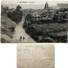 Cpa 76 Le Tréport 1917 panorama Ancre Marine