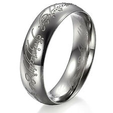 Mens Unisex Stainless Steel Ring Lord Of The Rings Silver Size 10 L40
