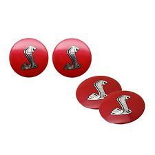 4x Red Cobra Car Steering Wheel Center Hub Caps Stickers for Ford Mustang Shelby
