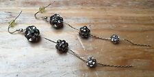 Gorgeous Sparkly Ball Drop Earrings Diamonte/Bling/Occasion/Silver Tone/Chain