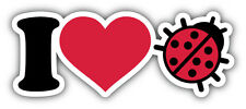 I Love Ladybug Car Bumper Sticker Decal 6'' x 3''