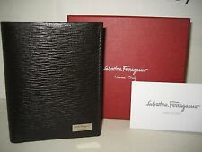 NEW BOX Salvatore Ferragamo Men Rivival Lux Leather Portfolio ID Bifold Wallet