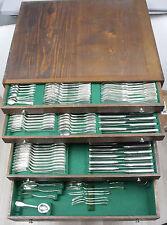202-piezas Augsburger hilo 800 él cubiertos de plata para 12-personas. con muchos accesorios