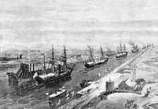 Opening of the Suez Canal Published 1869  Poster Print