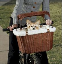 Solvit Tagalong Wicker Pet Bicycle Basket 62331 Pet Carriers NEW