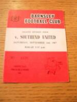 02/09/1967 - Barnsley v Southend United
