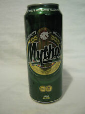 MYTHOS - a 500ml empty beer can, GREECE,for export to israel, hebrew text !!