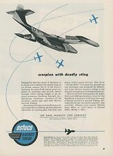 1952 Ostuco Tubing Co. Ad Northrop F-89 Scorpion Jet Fighter Deadly Sting