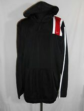 Nike Therma Fit Pull Over Hoodie Shirt XL Black Red White Long Sleeve