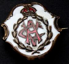 WWI RARE White Faced Enamel A.V.C. Army Veterinary Corps Sweetheart Brooch Badge