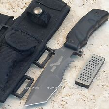 Bomb Squad Tactical Survival Combat Rescue Knife Military Tanto Blade + Sheath