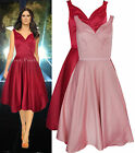 New Monsoon 6 - 18 Pink Wine Red Party Evening Fit Flare Full Skirt Prom Dress