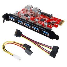 Inateck Superspeed 7 Ports PCI-E to USB 3.0 Expansion Card - Interface USB 3....