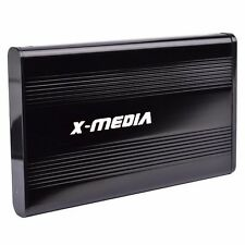 "X-Media Portable External Aluminum USB 2.5"" SATA Hard Disk Drive Enclosure Case"