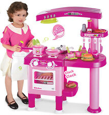 Girls Pink Kitchen Cooking Play Set Playset Learn Fun Learning Grown Up Practice