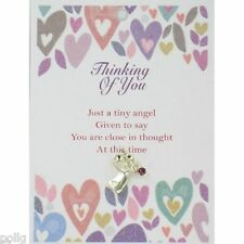Thinking of You Guardian Angel Lapel Pin & Inspirational Message Card Gift