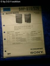 Sony Service Manual SRF S16 /S26 Radio (#5239)