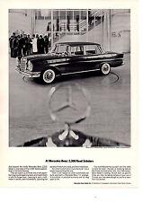 1964 MERCEDES-BENZ 220S SEDAN  ~  CLASSIC ORIGINAL PRINT AD