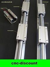 CNC Set 16x 1300mm 4x lange Linearwagen Linearführung Linear Guide Rail 3D Fräse