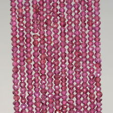 3X2MM BRAZILIAN PURPLE GARNET GEMSTONE GRD AAA FACETED RONDELLE LOOSE BEADS 13""