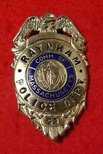 vintage and obsolete 1950s  Raynham Mass police badge