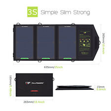 Waterproof 15W Folding Sunpower Solar Panel Battery Powered Charger Pack 5V