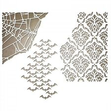 SIZZIX Thinlits Die Cutting Set MIXED MEDIA HALLOWEEN 3pk 661588 Tim Holtz