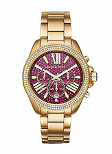 NEW MICHAEL KORS WREN LADIES WATCH MK6290 - PINK CRYSTAL DIAL GOLD TONE