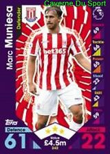 242 Marc MUNIESA ESPANA STOKE CITY.FC CARDS PREMIER LEAGUE 2017  TOPPS