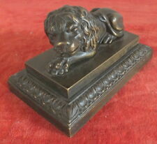 sculpture statue lion bronze 18eme debut 19eme presse papier