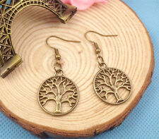 1 pair Free shipping Fashion Antique Bronze Jewelry  life tree earring
