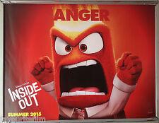 Cinema Poster: INSIDE OUT 2015 (Anger Quad) Amy Poehler Bill Hader Lewis Black
