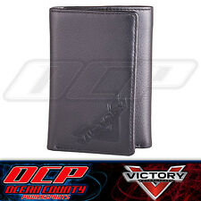 NEW GENUINE VICTORY MOTORCYCLES CROSS COUNTRY OEM 100% LEATHER TRI-FOLD WALLET