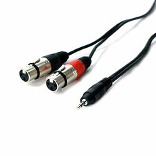 3m 3.5mm Spina Jack Stereo a 2x XLR femmina Splitter Cavo/Lead-Laptop Mixer Amplificatore