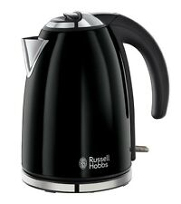 Russell Hobbs Colours Electric Kettle ● Stainless Steel, 1.7 L ● Jet Black ● New