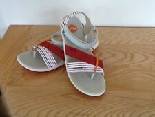 Camper women's sandals, size40 UK 7, brand new. white and red