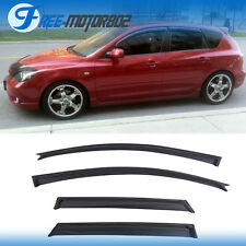 For 04-09 Mazda 3 5dr Hatch Window Visor Vent Shade Rain Sun Wind Guard