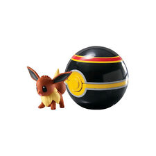 1 x TOMY Eevee w/ Luxury Ball Pokemon X & Y Clip 'N' Carry Figure Pokeball