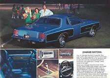 Old Print.  Blue/Black 1977 Dodge Charger Auto Advertisement