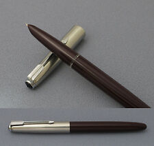 Rare NANJING 304 Fountain Pen Maroon Barrel Crosshatch Cap, 51 Style, 1970s Mint