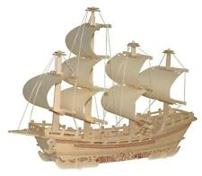 DIY 3D Jigsaw Woodcraft Kit Merchant Ship Shapes Wood Model Puzzle Kids Gift