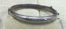 Vintage Sterling Bracelet Etched Birmingham English Bangle Childs RPH