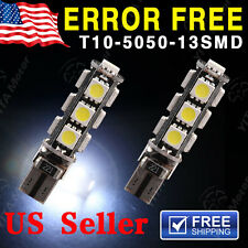2 X Canbus ERROR FREE 5050 T10 13 SMD Car Side Wedge LED Light bulbs W5W 194 168