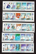 1986 Solomon Islands Stamps - Americas Cup - 10 strips of 5 - MNH see 2 scans