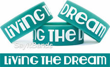 "Living the Dream One Inch 1"" Wrist Band Bracelet Popular New Wristband Design"